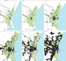 Evolución del área metropolitana. El asentamiento urbano: previsión de crecimiento. Fuente: Documento del PATH