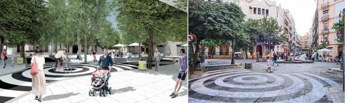 Participación y comprobación: Figuración de la propuesta y dibujo de la plaza. Fuente EFGarquitectura