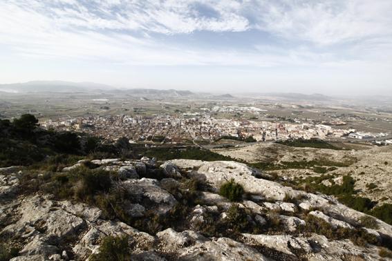 Paisaje de Villena 2016, vista desde la Sierra de la Villa. Fuente: Santi Hernández.