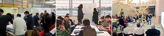 Talleres, mesas de trabajo y conferencias en la Factoría cívica. Fuente: CivicFactory