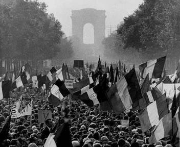 Mayo francés del 68. Fuente: Sobrehistoria.com