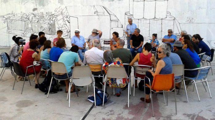 Participación ciudadana con los vecinos del Campo de la Cebada. Fuente: civicfactory.com