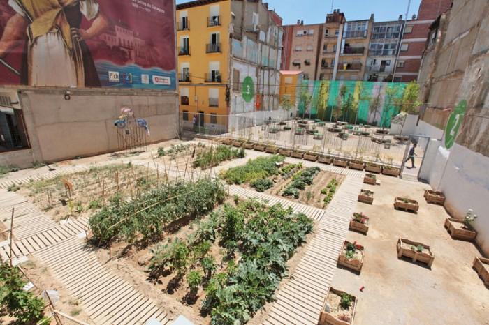 Huertos urbanos, proyecto de «Estenoesunsolar» Fuente: archidaily.pe