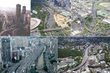 Caracas. Distintas vistas aéreas del entramado viario que atraviesa la ciudad de oeste a este. Fuente fotografías: Arq. Ricardo Rodríguez Boades.