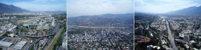 Caracas. Vistas de la autopista F.F. oeste-este. Fuente www.skyscrapercity.com. Autor desconocido.